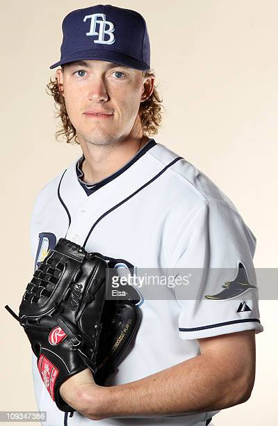 Jonah Bayless of the Tampa Bay Rays poses for a portrait during the Tampa Bay Rays Photo Day on February 22 2011 at the Charlotte Sports Complex in...