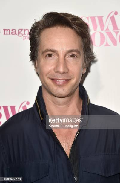 """Jonah Blechman attends the premiere of Magnolia Pictures' """"Swan Song"""" at iPic Theaters on August 05, 2021 in Los Angeles, California."""
