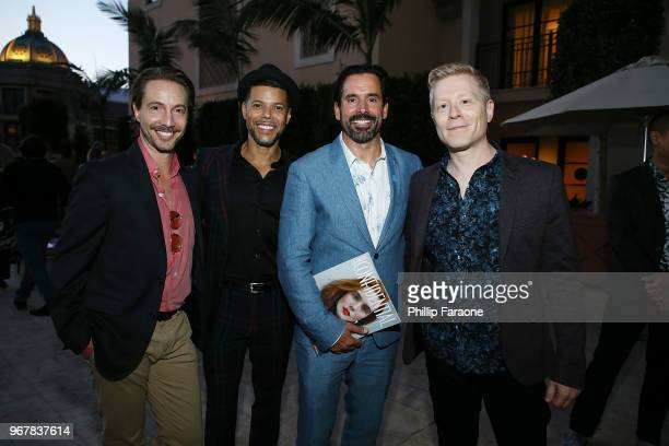 Jonah Blechman Wilson Cruz Chris Gialanella and Anthony Rapp attend the Los Angeles Confidential Celebration for Portraits of Pride with GLAAD and...