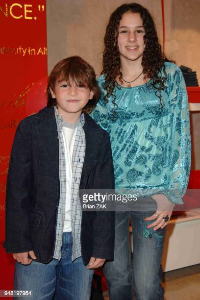 Jonah Bobo and Hallie Kate Eisenberg at the RxArt Coloring Book Launch held at DKNY Madison Ave New York City BRIAN ZAK