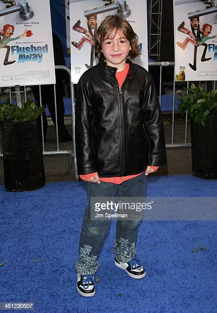 Jonah Bobo during Flushed Away New York Premiere Outside Arrivals at AMC Lincoln Square in New York City New York United States