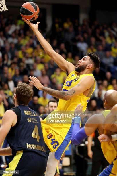 Jonah Bolden #43 of Maccabi Fox Tel Aviv in action during the 2017/2018 Turkish Airlines EuroLeague Regular Season Round 14 game between Maccabi Fox...