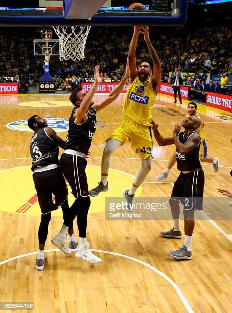Jonah Bolden #43 of Maccabi Fox Tel Aviv in action during the 2017/2018 Turkish Airlines EuroLeague Regular Season Round 17 game between Maccabi Fox...