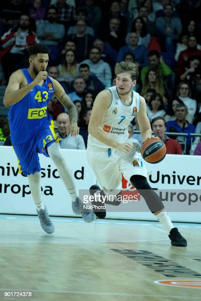 Jonah Bolden of Real Madrid in action during the 2017/2018 Turkish Airlines EuroLeague Regular Season Round 16 game between Real Madrid and Maccabi...