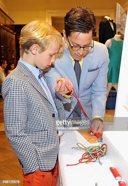 Jonah Bucatinsky and actor Dan Bucatinsky attend Brooks Brothers Mini Classic to Benefit St Jude Children's Research Hospital at Brooks Brothers...