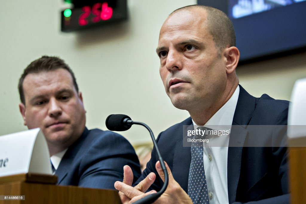Jonah Crane, former deputy assistant secretary of Financial Stability Oversight Council at the U.S. Treasury, speaks during a House Financial Services Subcommittee hearing in Washington, D.C., U.S., on Friday, July 14, 2017. The hearing is entitled A Review of Fixed Income Market Structure. Photographer: Andrew Harrer/Bloomberg via Getty Images
