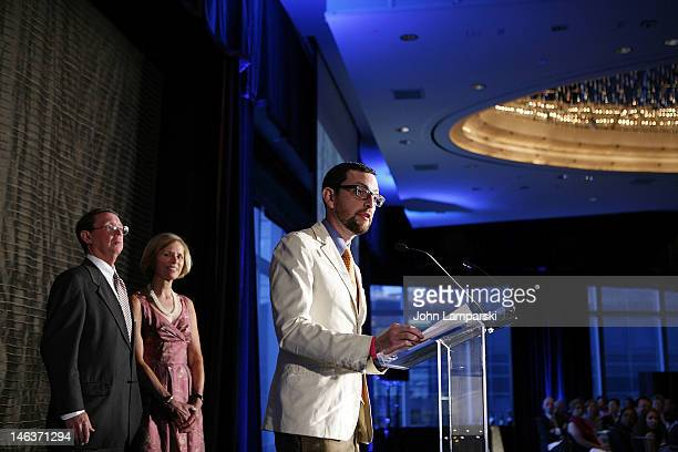 Jonah EllerLascs Rob Spring and Cornelia Spring attends the 2012 CancerCare Spring Gala at the Mandarin Oriental Hotel on June 14 2012 in New York...