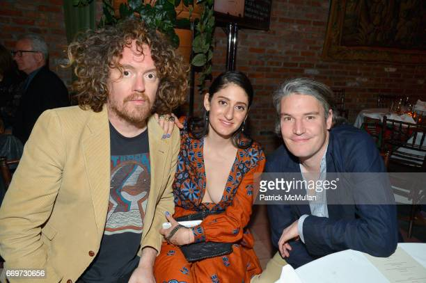 Jonah Freeman Arden Wohl and Nate Lowman attend The Turtle Conservancy's 4th Annual Turtle Ball at The Bowery Hotel on April 17 2017 in New York City