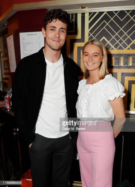 Jonah HauerKing and guest attend as a new cast debuts in Waitress The Musical at The Adelphi Theatre on July 02 2019 in London England