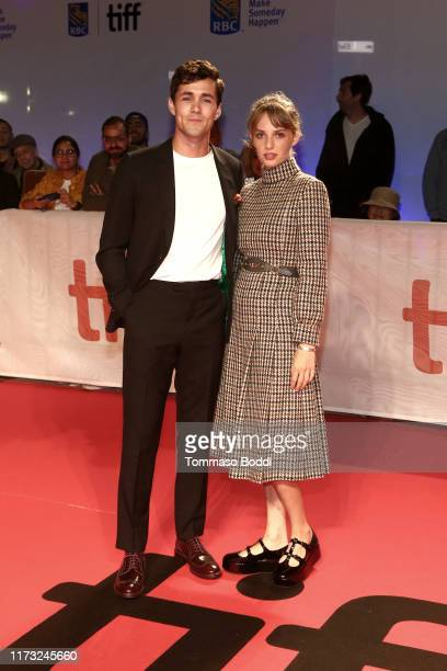 Jonah HauerKing and Maya Hawke attend The Song Of Names premiere during the 2019 Toronto International Film Festival at Roy Thomson Hall on September...
