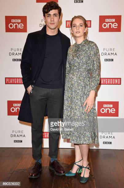 Jonah HauerKing and Maya ThurmanHawke attend a special screening of new BBC drama Little Women at The Soho Hotel on December 11 2017 in London England