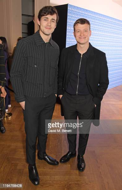 Jonah HauerKing wearing Paul Smith and Ed Speleers wearing Paul Smith attend the Paul Smith AW20 50th Anniversary show as part of Paris Fashion Week...