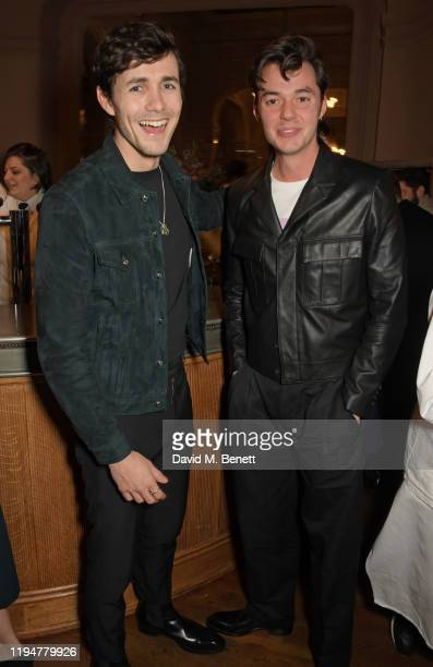 Jonah HauerKing wearing Paul Smith and Jack Bannon wearing Paul Smith attend an intimate dinner in celebration of 50 years of Paul Smith at Le...
