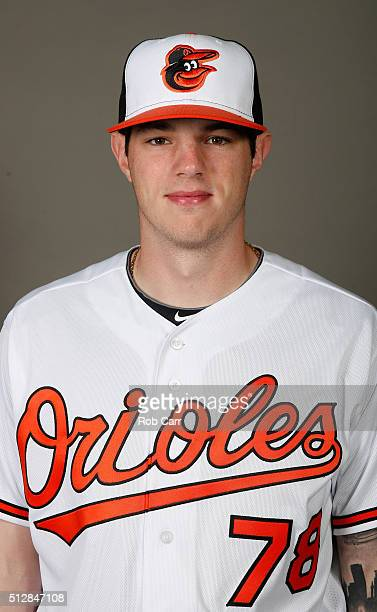 Jonah Heim of the Baltimore Orioles poses during photo day at Ed Smith Stadium on February 28 2016 in Sarasota Florida