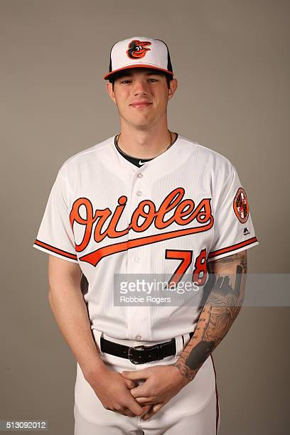 Jonah Heim of the Baltimore Orioles poses during Photo Day on Sunday February 28 2016 at Ed Smith Stadium in Sarasota Florida