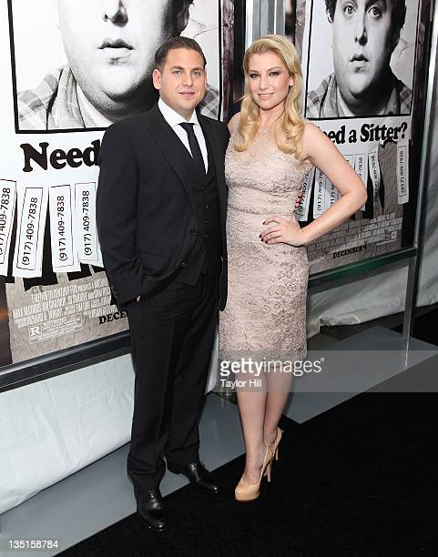 Jonah Hill and Ari Graynor attend 'The Sitter' premiere at Chelsea Clearview Cinemas on December 6 2011 in New York City