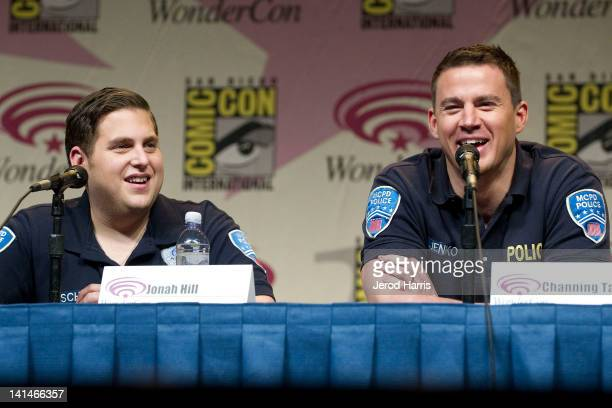 Jonah Hill and Channing Tatum appear at the 21 Jump Street Panel on WonderCon Day 1 at the Anaheim Convention Center on March 16 2012 in Anaheim...