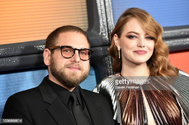 Jonah Hill and Emma Stone attend Maniac Season 1 Premiere at Center 415 on September 20 2018 in New York City