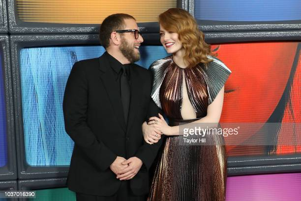 Jonah Hill and Emma Stone attend the Season One premiere of Netflix's Maniac at Center 415 on September 20 2018 in New York City