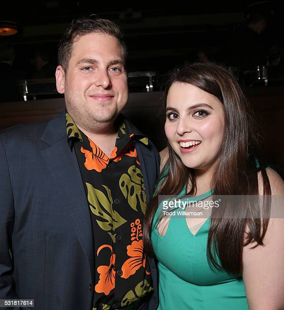 Jonah Hill and sister Beanie Feldstein attend the after party for the premiere of Universal Pictures' Neighbors 2 Sorority Rising on May 16 2016 in...