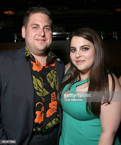 Jonah Hill and sister Beanie Feldstein attend the after party for the premiere of Universal Pictures' 'Neighbors 2 Sorority Rising' on May 16 2016 in...