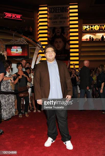 Jonah Hill arrives at a screening of Universal Pictures' Get Him to the Greek at the Planet Hollywood Resort Casino May 20 2010 in Las Vegas Nevada...