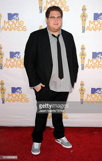 Jonah Hill arrives at the 2010 MTV Movie Awards held at the Gibson Amphitheatre at Universal Studios on June 6 2010 in Universal City California