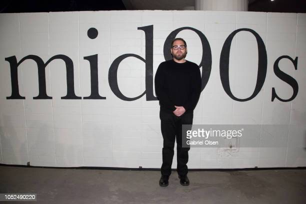 Jonah Hill arrives for the premiere of A24's Mid90s at West LA Courthouse on October 18 2018 in Los Angeles California