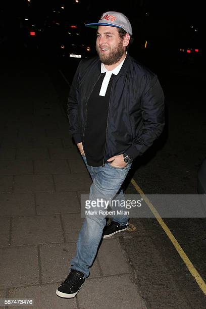 Jonah Hill at the Chiltern Firehouse on August 8 2016 in London England