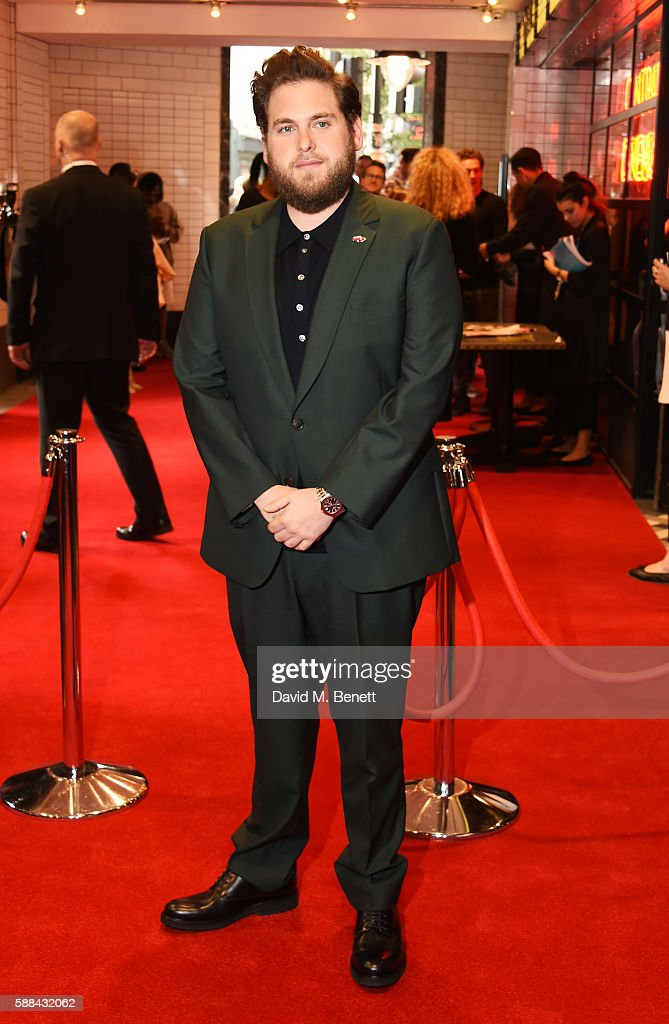 Jonah Hill attends a special screening of 'War Dogs' at Picturehouse Central on August 11, 2016 in London, England.