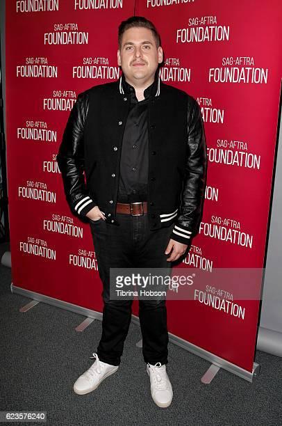 Jonah Hill attends SAGAFTRA Foundation's Conversations for 'War Dogs' at SAG Foundation Actors Center on November 15 2016 in Los Angeles California