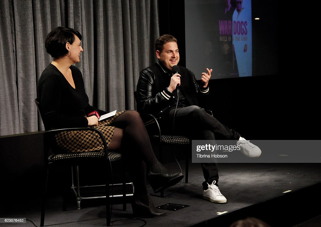 Jonah Hill (R) attends SAG-AFTRA Foundation's Conversations for 'War Dogs' at SAG Foundation Actors Center on November 15, 2016 in Los Angeles, California.