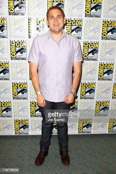 "Jonah Hill attends the ""Allen Gregory"" press line at 2011 Comic-Con International - Day 4 at San Diego Convention Center on July 24, 2011 in San..."