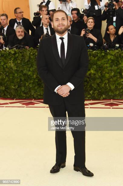 Jonah Hill attends the Heavenly Bodies: Fashion & The Catholic Imagination Costume Institute Gala at The Metropolitan Museum of Art on May 7, 2018 in...