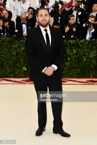Jonah Hill attends the Heavenly Bodies Fashion The Catholic Imagination Costume Institute Gala at The Metropolitan Museum of Art on May 7 2018 in New...