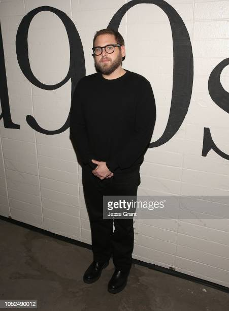 Jonah Hill attends the premiere of A24's 'Mid90s' at West LA Courthouse on October 18 2018 in Los Angeles California