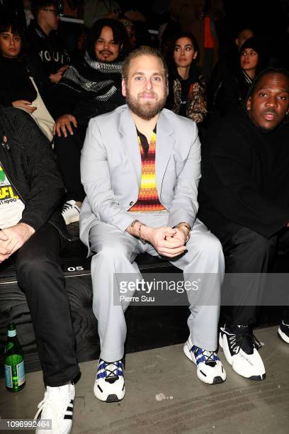 Jonah Hill attends the Y3 Menswear Fall/Winter 20192020 show as part of Paris Fashion Week on January 20 2019 in Paris France