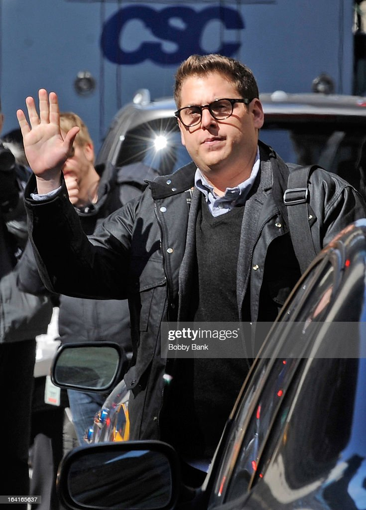 Jonah Hill filming on location for 'True Story' on March 20, 2013 in New York City.