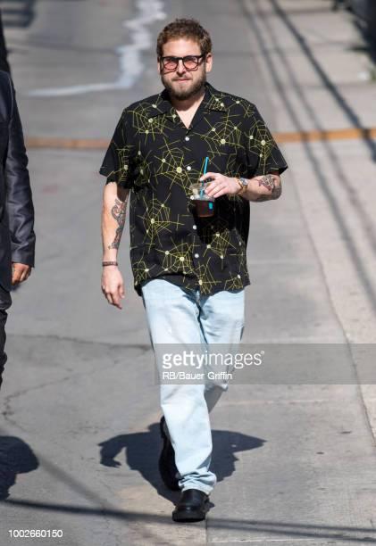 Jonah Hill is seen at 'Jimmy Kimmel Live' on July 17 2018 in Los Angeles California