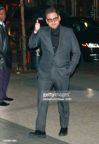 Jonah Hill is seen at The Museum of Modern Art Film Benefit Tribute to Martin Scorsese on November 19 2018 in New York City
