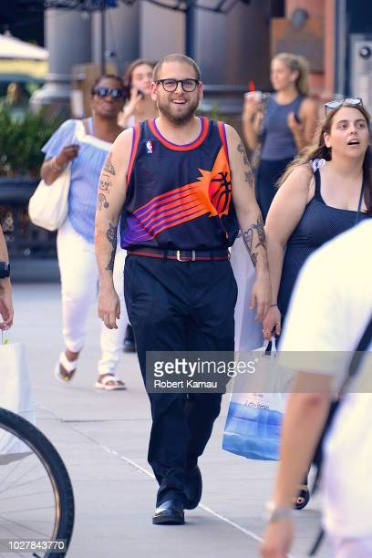Jonah Hill is seen in Manhattan on September 5 2018 in New York City