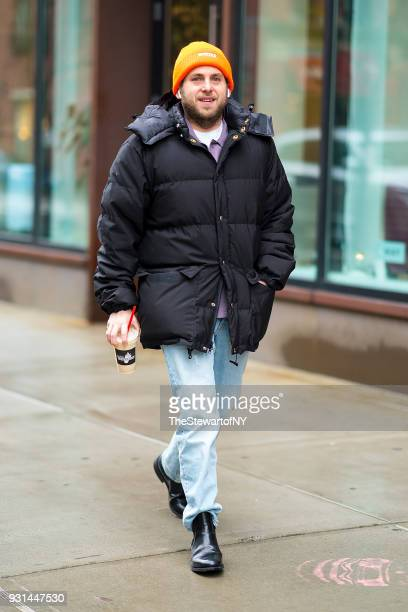 Jonah Hill is seen in NoHo on March 13 2018 in New York City