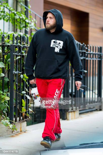 Jonah Hill is seen in NoHo on October 1 2018 in New York City