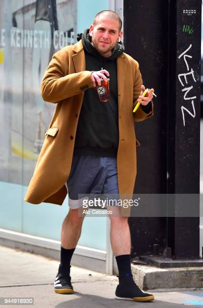 Jonah Hill is seen in Soho on April 11 2018 in New York City
