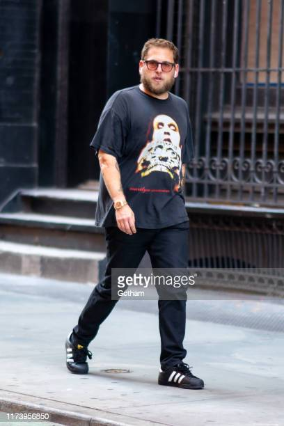 Jonah Hill is seen in SoHo on September 11 2019 in New York City