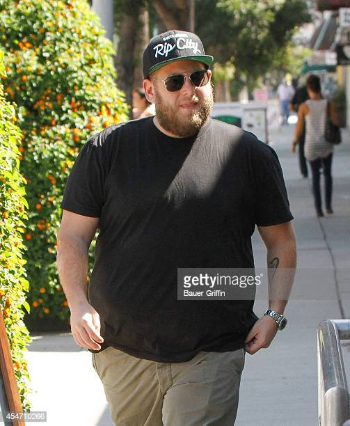 Jonah Hill is seen in Studio City on September 05 2014 in Los Angeles California