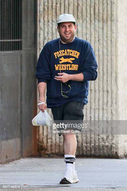 Jonah Hill is seen on June 02, 2016 in New York City.