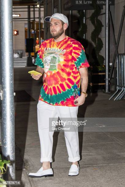 Jonah Hill is seen on Upper East Side on May 11 2018 in New York New York