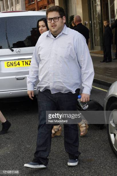 Jonah Hill leaving Claridges Hotel on August 25 2009 in London England