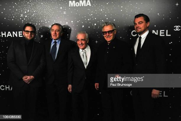 Jonah Hill Robert De Niro Martin Scorsese Harvey Keitel and Leonardo DiCaprio attend The Museum Of Modern Art Film Benefit Presented By Chanel A...